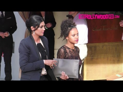 Rachel Roy & Her Daughter Ava Dash Arrive To The Daily Front Row Awards At Sunset Tower 4.2.17