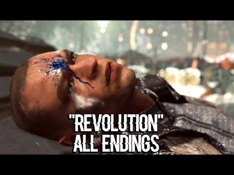 DETROIT BECOME HUMAN – All Endings of Markus' Revolution | Fail, Success, Death