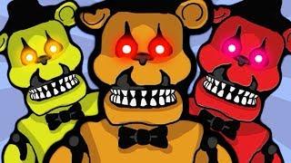 - Продолжаем Сражаться с ХОРРОР БОССАМИ Мишка из 5 Ночей Фредди Кукла Чаки нападают в детской игре