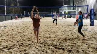Girls Play Amazing Match of Volleyball - 1025613-1