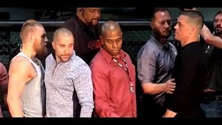 Conor McGregor vs Nate Diaz's First UFC 196 Staredown