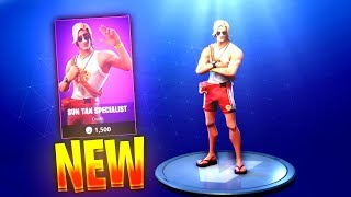 "NEW ""SUN TAN SPECIALIST"" SKIN + ""RESCUE PADDLE"" PICKAXE! - July 28th Item Shop Update! (Fortnite)"