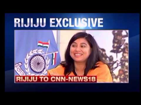 Kiren Rijiju with the Arm forces during interview with CNN IBN