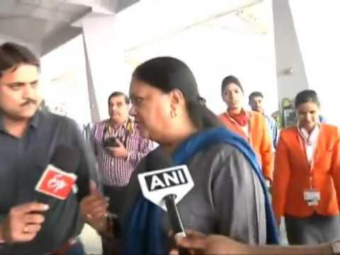 Vasundhara Raje leaves for Singapore, to discuss tourism, urban infrastructure