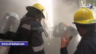 بالفيديو والصور .. التحريات : حريق المهندسين نشب باستوديو صوتيات علي مساحة 250 متر واخلاء العقار من السكان