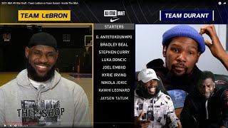Team LeBron vs Team Durant 2021 NBA All-Star Draft! I LIKES THIS!!