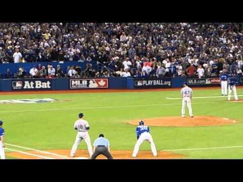 My view of Jose Bautista's Game 5 home run - Blue Jays vs. Rangers 10/14