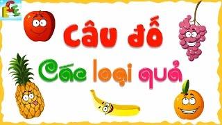 Câu đố vui cho bé về trái cây phát triển tư duy cho trẻ| dạy em học các loại quả cam, quả chuối, táo