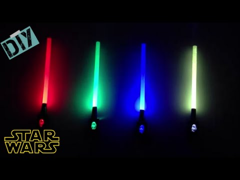 Diy Mini Starwars Toy Lightsabers With Led Light Youtube