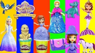 30 SOFIA THE FIRST Playsets Play Doh Princess Anna Elsa Mermaid Magiclip Backpack Surprise Eggs