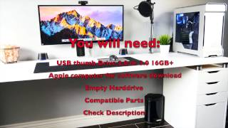 Hackintosh OS X Sierra i7 6700k Skylake & Nvidia graphics card Build Guide
