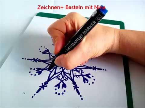 Schneeflocken Zeichnen Malen Eiskristalle Malvorlagen Youtube