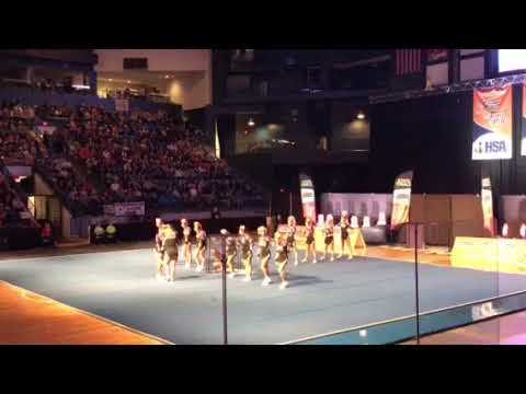 Rolling Meadows Varsity Cheer @ State 2018 Day 1