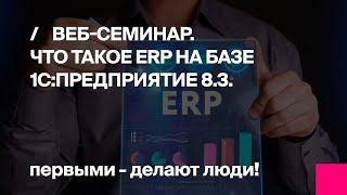 1C ERP. Что такое erp на базе 1С Предприятие 8.3.