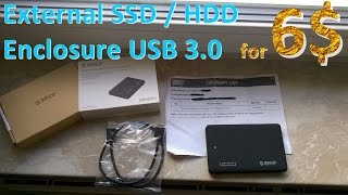 ORICO 2599US3-V1 - 2.5 inch HDD / SSD External Enclosure USB 3.0