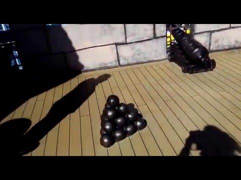 Mediterráneo.Cañones y barco pirata dentro de barco (dedicado a Pavel Rodriguez por amigos)