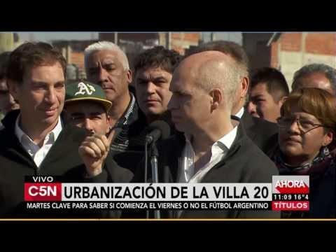 C5N - Política: Anuncian urbanización de la Villa 20