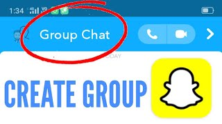 How to Create Snapchat Group Chat || Create Group Chat in Snapchat