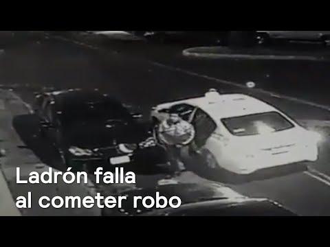 Ladrón falla al cometer robo en la colonia Industrial, en la CDMX - Las Noticias con Danielle