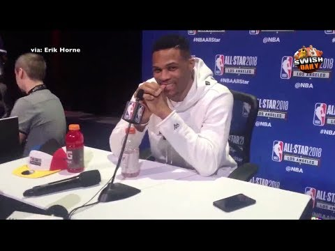 Russell Westbrook on current relationship with Durant, shuts down fans asking for PG13 in LA