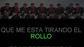 ME ESTA TIRANDO EL ROLLO BANDA LOS RECODITOS KARAOKE