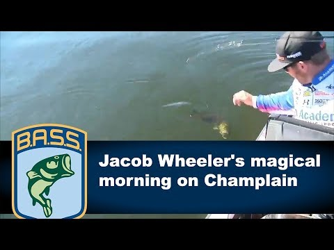 Jacob Wheeler quickly catches a limit on Lake Champlain