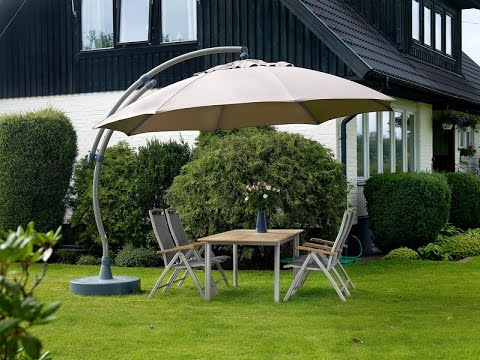 parasol easy sun 375 cm sun garden youtube. Black Bedroom Furniture Sets. Home Design Ideas