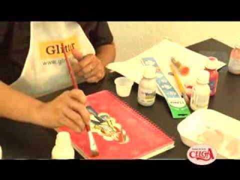 Dicas De Artesanato Formas De Pintar Uma Capa De Caderno Youtube