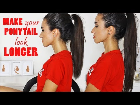 How To Make Your Ponytail Look Longer Without Extensions Youtube