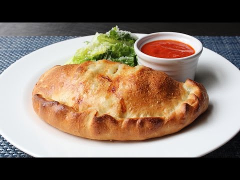 Calzone Recipe – How to Make a Calzone – Ham and Cheese Stuffed Pizza Bread