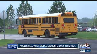 Students head back to school at Noblesville West Middle School