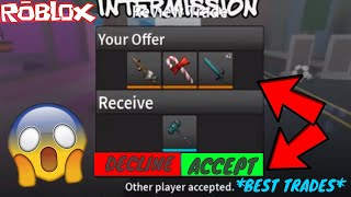 BEST TRADE EVER YET! *LEGEND HAMMER* (ROBLOX ASSASSIN BEST TRADES!)