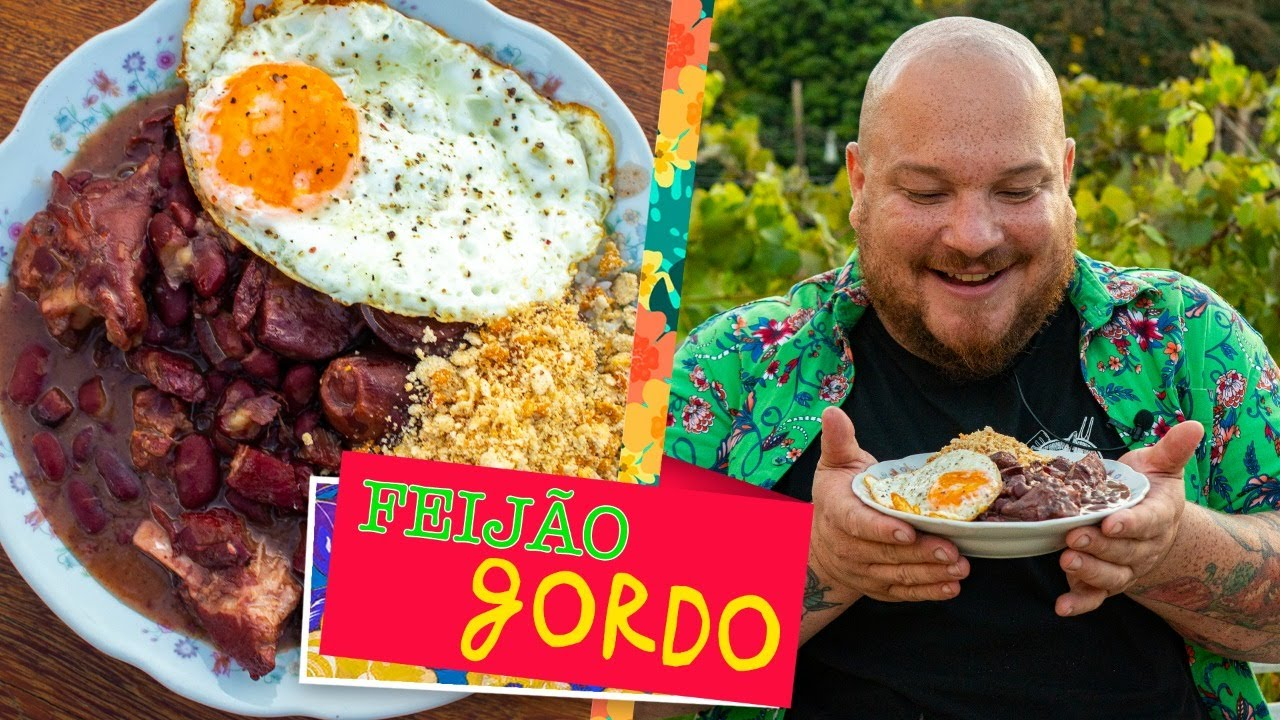Feijão Gordo (receita de feijão gordo para o dia a dia / feijoada fácil) - Cansei de ser chef