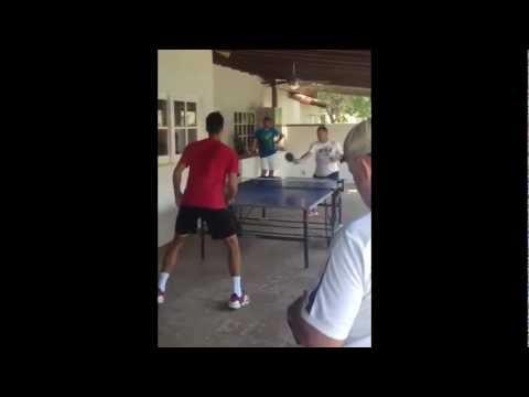 Novak Djokovic and Marián Vajda - Playing Ping Pong  HD