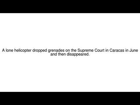 News Update Venezuelan charged over Supreme Court helicopter attack 18/09/17