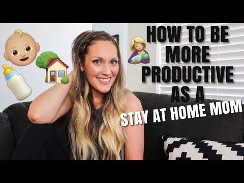 HOW TO BE MORE PRODUCTIVE AS A STAY AT HOME MOM | Amanda Little