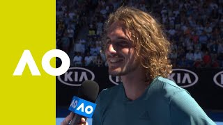 Stefanos Tsitsipas on-court interview (QF) | Austalian Open 2019