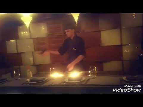 Teppanyaki chef Ahmed refat