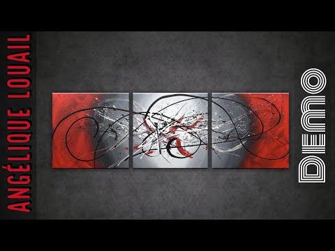 Triptyque abstrait démonstration