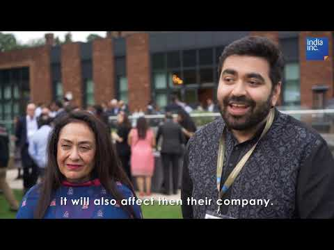 Dr Jyotsna Suri and Keshav Suri at India UK week