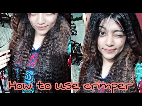 How to use Hair Crimper Review and tutorial