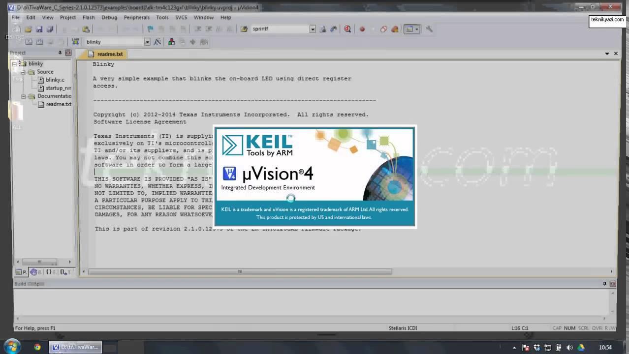 Tiva C Series Launchpad ile Uygulama Geliştirme 1 Proje ortamının  hazırlanması