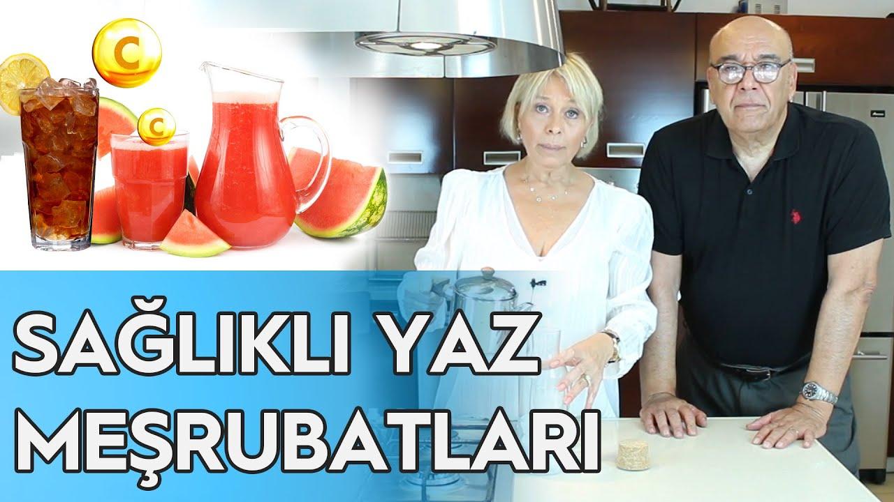 SAĞLIKLI YAZ MEŞRUBATLARI - (BUZ GİBİ KARPUZLU SU ve SOĞUK ÇAY TARİFİ! ) / Doktor Mutfakta