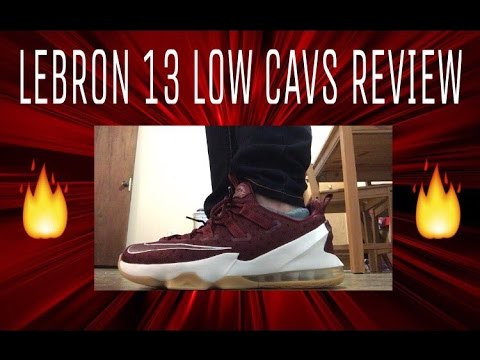 separation shoes 8d094 9f3a7 LEBRON 13 LOW CAVS COLORWAY REVIEW! NIKE LEBRON 13 LOW CAVS ON FEET AND  PERFORMANCE REVIEW