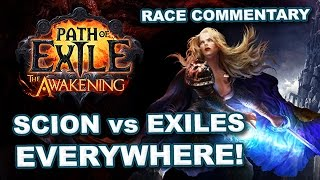 Path of Exile: EXILES EVERYWHERE (Scion) Race Commentary - 20 Exiles Per Zone