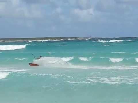 Anguilla kitesurfing stunts