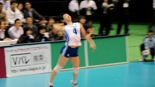 2012/13 バレー Vリーグ決勝 東レvs久光 第1セット Japan Women's volleyball-league final
