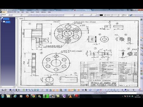 Catia V5 Tutorial Inserting Frames and Title Block Automatic(ISO & 3rd Angle) Beginner's Tutorials
