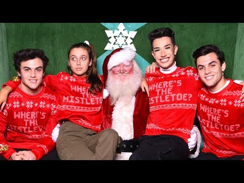 CHRISTMAS WISH COME TRUE (MEETING SANTA!) ft. Dolan Twins & James Charles
