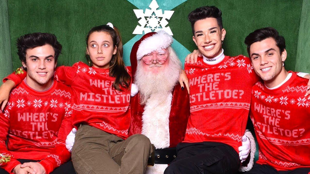 b01fb5b45a53 CHRISTMAS WISH COME TRUE (MEETING SANTA!) ft. Dolan Twins & James Charles